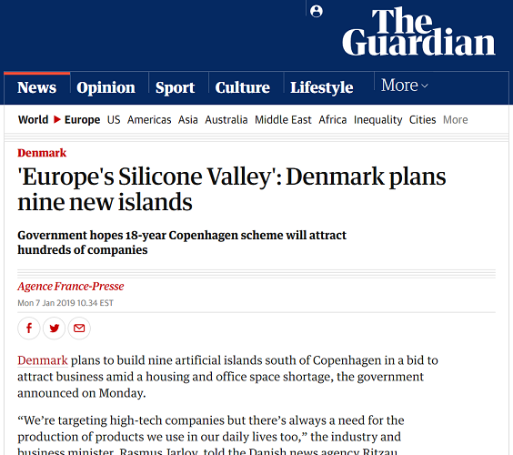 "Clip from Guardian Newspaper ""Silicone Valley"" in headline"